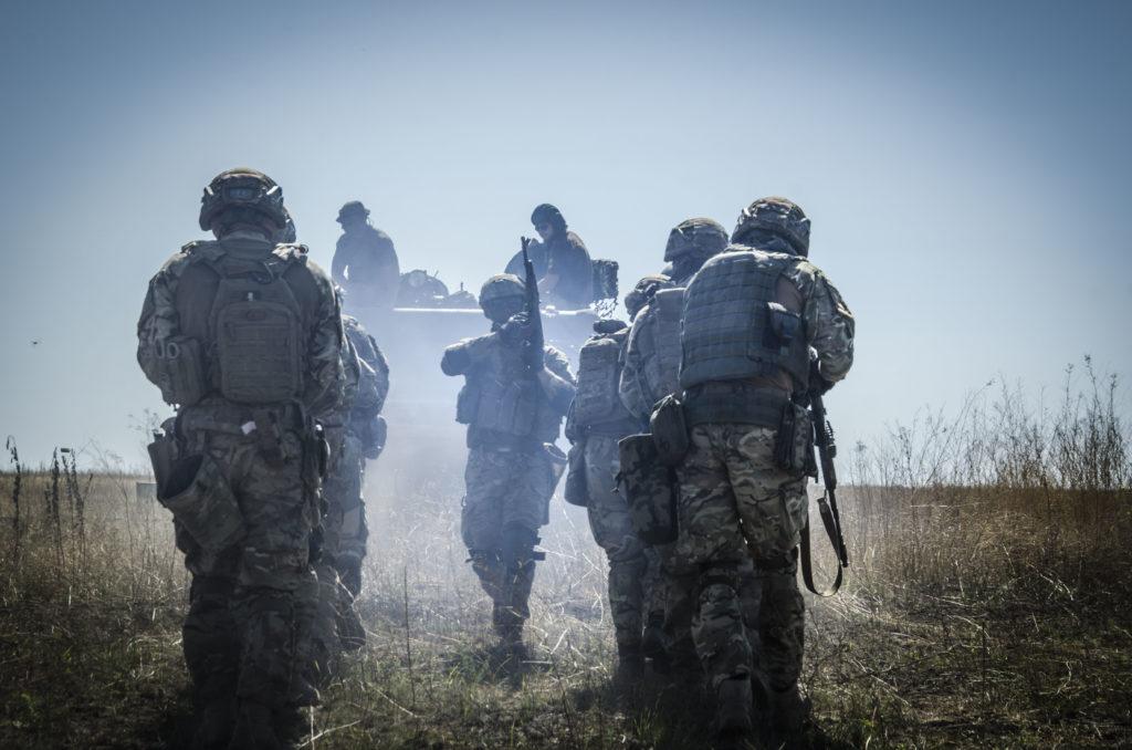 Тренування піхоти з танкістами АЗОВ