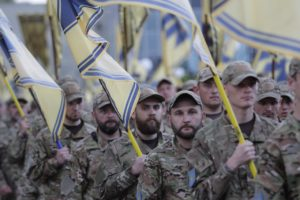 Полк АЗОВ відсвяткував чотириріччя у Бердянську