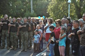 Урочисте відкриття пам'ятного знака воїнам, що віддали життя за Україну